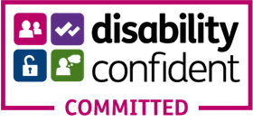 disablity confident committed badge